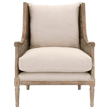 Churchill Club Chair Sand Linen, Weathered