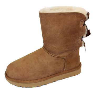 UGG BAILEY BOW II WOMENS CHESTNUT BOOTS