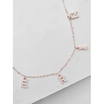 Sparkle Name Necklace - Rose Gold