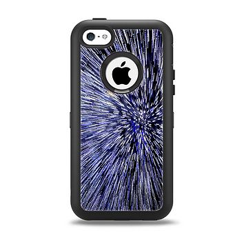 The Purple Zooming Lights Apple iPhone 5c Otterbox Defender Case Skin Set