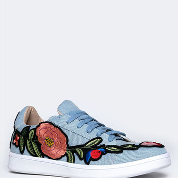Denim Patch Sneaker