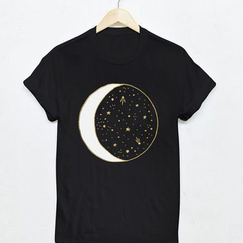Moon & Stars Tee / celestial shirt / moon tshirt / moon and stars shirt