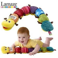 Free Shipping Lamaze Baby Toys Musical Inchworm Stuffed Plush Soft Sound Paper rattles Toy Retail