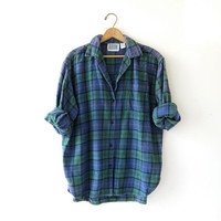Vintage Tomboy Flannel / Grunge Shirt / Button Up Flannel / Slouchy Flannel