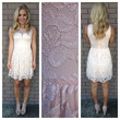 Peaches N Cream Lace Dress
