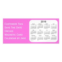 2016 Orchid Calendar by Janz 9x4 Magnet Magnetic Invitations