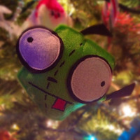 Invader Zim Gir Wool Felt Polyfill Stuffed Christmas Ornament