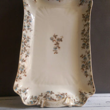 Haviland Limoges Square Serving Platter/ CH Field Serving Platter/ Relish Tray/ Antique Serving Platter/ Rectangular Serving Platter