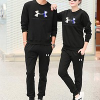 Under Armour Women Men Fashion Casual Top Sweater Pants Trousers Set Two-Piece