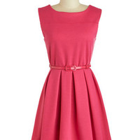 'Tis a Shift to Be Simple Dress in Haute Pink | Mod Retro Vintage Dresses | ModCloth.com