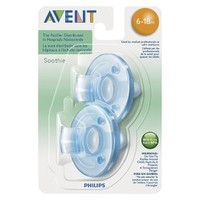 Philips Avent PA Free Soothie Pacifier, 3 Months+, Blue/Pink, 2-Pack