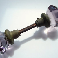 Vintage / Antique Amethyst Glass Door Knob Set by ThirdShift