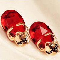 Vintage Skull Stud Earrings at Online Jewelry Store Gofavor
