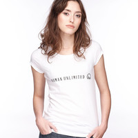 Women's White Human Unlimited Shirt