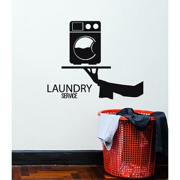 Vinyl Wall Decal Cleaning Service Clothes Laundry Dry Interior Stickers Mural (g2980)