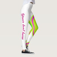 green pink colors circle customizable legging