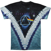 Pink Floyd Men's  Pyramid Tie Dye T-shirt Black