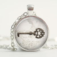 Pendant with Chain - Vintage Key