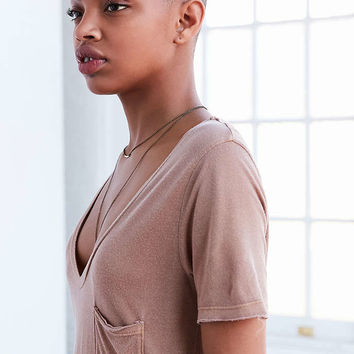 Project Social T Ozzy V-Neck Pocket Tee - Urban Outfitters