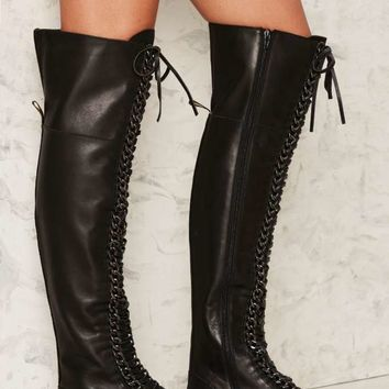 Lust For Life Oblivion Leather Boot