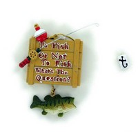 Kurt Adler To Fish or Not Christmas Ornament