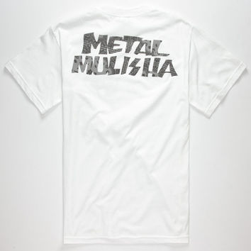 Metal Mulisha Set Mens T-Shirt White  In Sizes