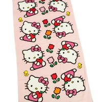 Hello Kitty Sports Women's Print Towel, Pink, 30 x 60-Inch