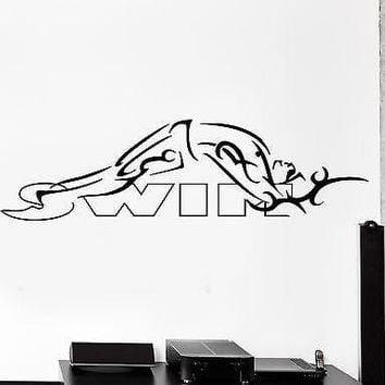 Wall Sticker Swim Swimmer Swimming Backstroke Sport Vinyl Decal Unique Gift (z2989)