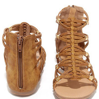 Coliseum Tan Gladiator Sandals