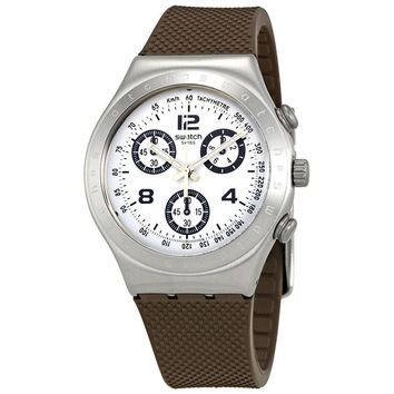 Swatch Classylicious White Dial Mens Chronograph Watch YCS113C