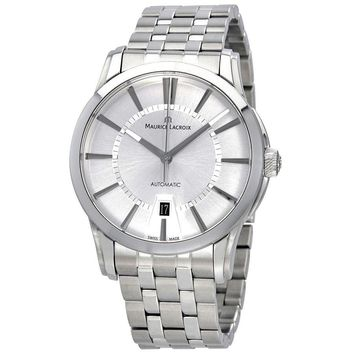 Maurice Lacroix Pontos Date Silver Dial Mens Automatic Stainless Steel Watch
