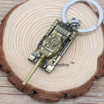 Wot Game 3D World of Tanks Bullet Metal Keychain Key Chain Key Rings Holder for car Jewelry for Souvenir Chaveiro KT2523
