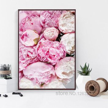 Pink Rose Flowers Cuadros Decoracion Love Wall Art Canvas Painting Nordic Poster Wall Decor Posters And Prints Romantic Unframed