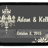 Wedding Chandelier Personalized Mint Tins, Wedding Favors, Candy Favors