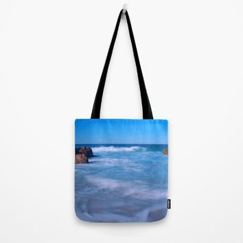 Baby Blues Tote Bag by Leah Poquette