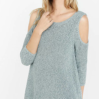 Marl Shaker Knit Cold Shoulder Sweater from EXPRESS
