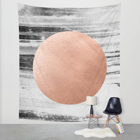 rose gold #1 Wall Tapestry by LEEMO