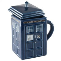 Free shipping Doctor Who Tardis Creative Police Box Mug Funny Ceramic Coffee Tea Cup  For christmas Gift