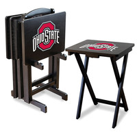 Ohio State University TV Trays W/Stand