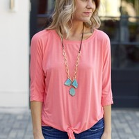 Michael Stars Dolman Tee with Tie Waist-$88.00 | Hand In Pocket Boutique