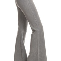 Chatoyant Mineral Wash Flare Pants in Light Gray