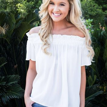 Luau Off the Shoulder- Ivory