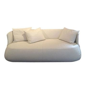 Pre-owned B&B Italia White Leather 'Fat' Sofa