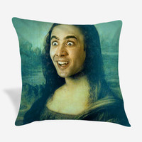 Nicolas Cage Mona Lisa Pillow Case