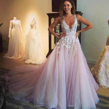 2016 Fashionable Sexy Long Mermaid Prom Dress  With Flower Beaded Tulle Backless Evening Gown Robe de Soiree Pageant Gown EV11