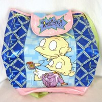 RUGRATS Vintage 90s Vinyl Backpack Tote Bag Nickelodeon Viacom 1998 Tommy