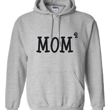 Mom2 Hoodie. Awesome Mom Hoodie. Great For Moms Expecting Twins. Show Your Mom How Much You Care By Giving Her This Shirt. Great Gift Ideas.
