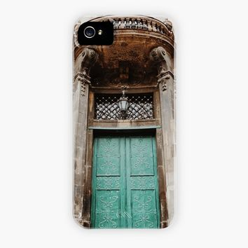 Green doors, a phone case by Nazar N.