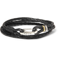 Paul Smith Shoes & Accessories Woven-Leather Wrap Bracelet | MR PORTER