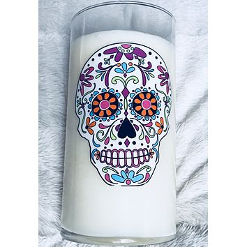 Mexican Sugar Skull Soy Candle - Limited Edition